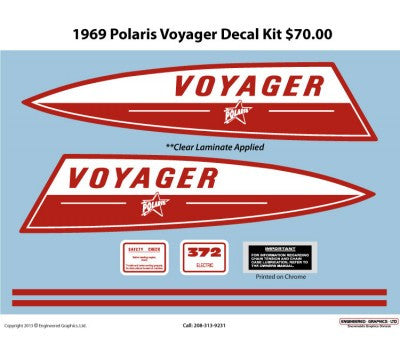 1969 Polaris Voyager Decal Set