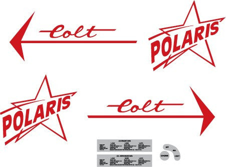 1966 Polaris Colt Decal Set