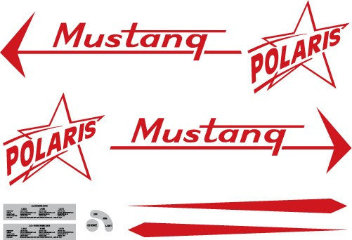 1967 Polaris Mustang Decal Set