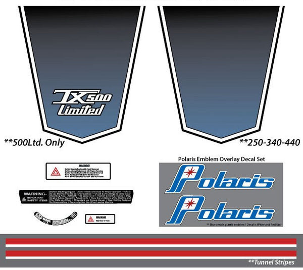1974 Polaris TX Decal Set