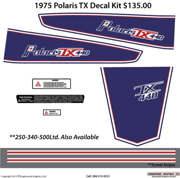 1975 Polaris TX Decal Set