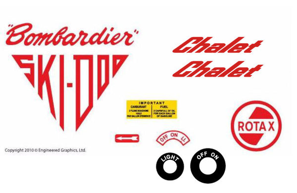 1965 Ski-Doo Chalet Decal Set
