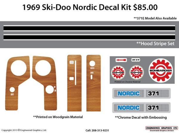 1969 Ski-Doo Nordic Decal Kit 371