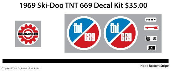 1969 Ski-Doo TNT Decal Set