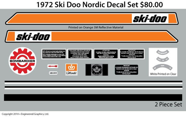 1972 Ski-Doo Nordic Decal Set