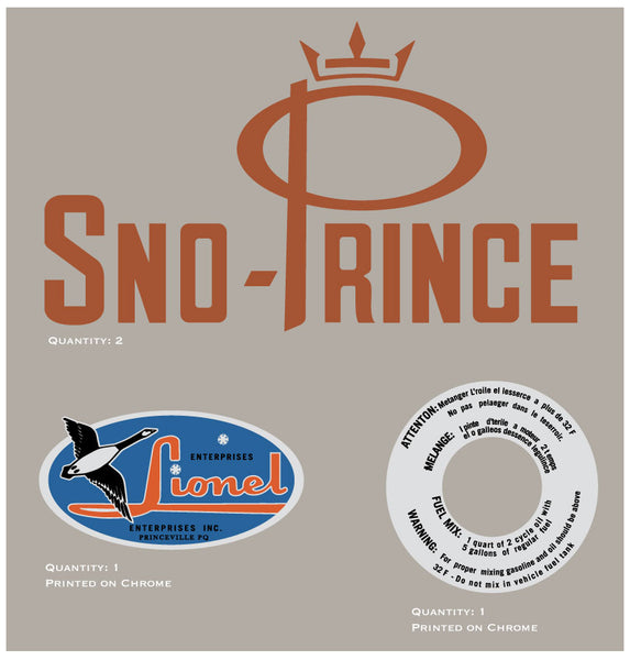 1968 Sno Prince Decal Kit