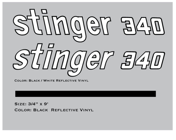 1972 Scorpion Stinger 340 Decals