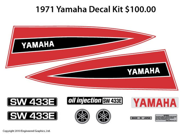 1971 Yamaha Decal Set