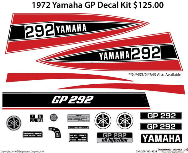 1972 Yamaha GP Decal Set