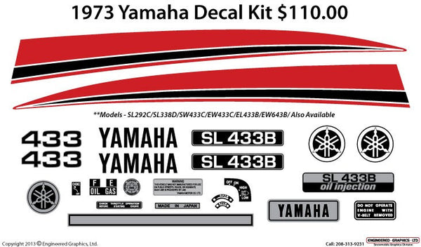 1973 Yamaha Decal Set