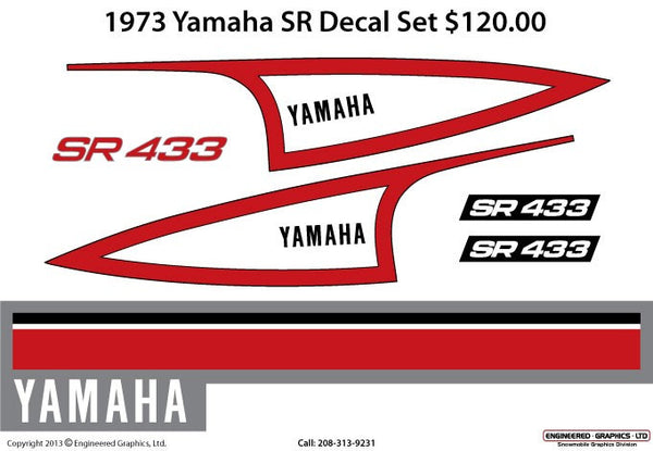 1973 Yamaha SR Decal Set