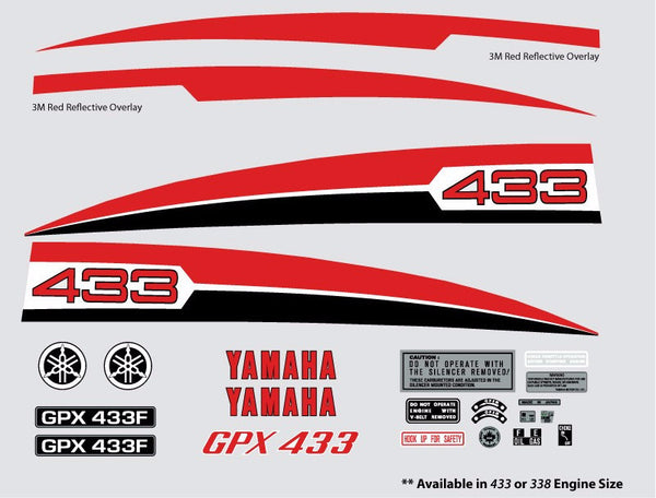 1974 Yamaha GPX Decal Set