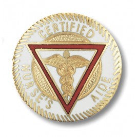 Certified Nurse's Aide Gold & Red Emblem