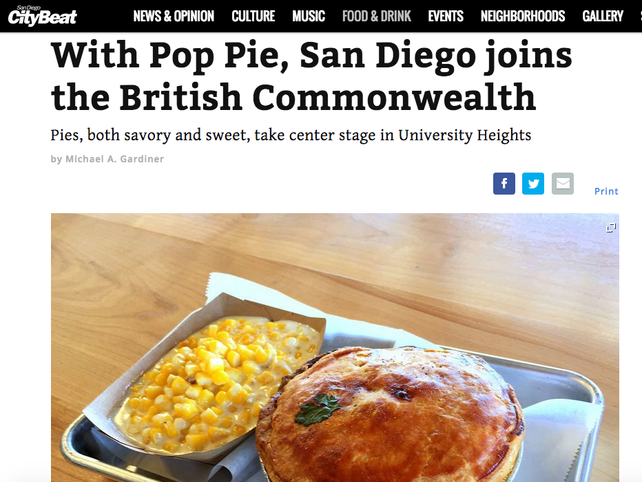 With Pop Pie, San Diego joins the British Commonwealth: Pies, both savory and sweet, take center stage in University Heights