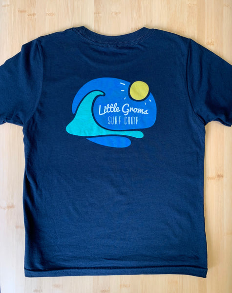 Little Groms Surf Camp T-shirt I  Original Logo