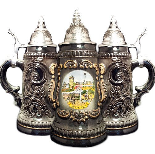 1/4 Liter Dusseldorf Black Shield Beer Stein