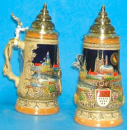 City of Koeln Cologne Germany Beer Stein 0.25 Liter