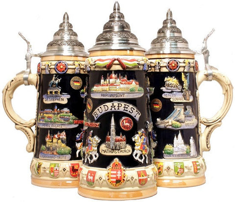 Budapest Hungary Panorama German Beer Stein 0.75 Liter