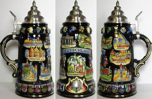 0.4 Scenes of Deutschland Liter Beer Stein