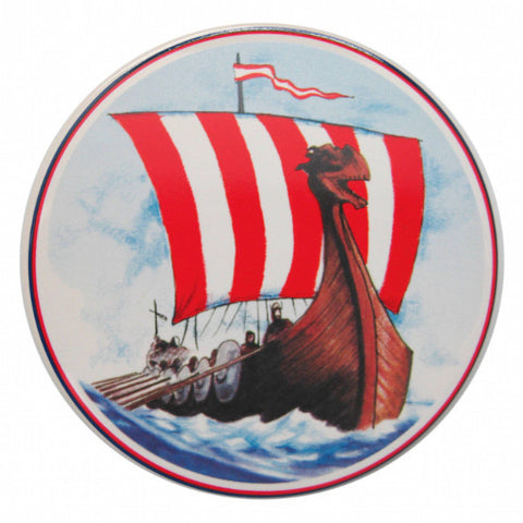 Ceramic Tile Coaster Viking Ship