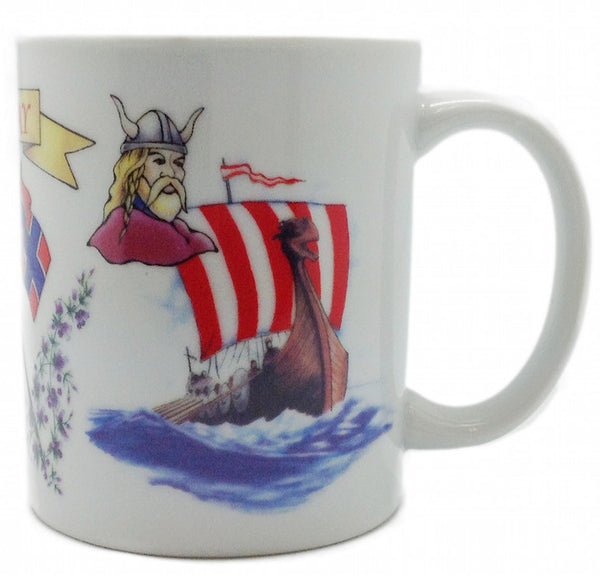 Unique Norwegian Gift 3 Graphic Coffee Cup