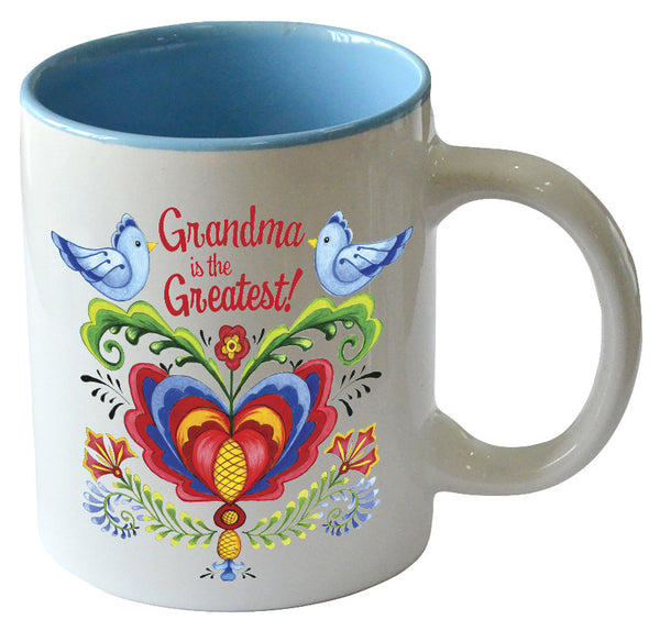 Grandma is the Greatest! - Bird Design Ceramic Coffee cup