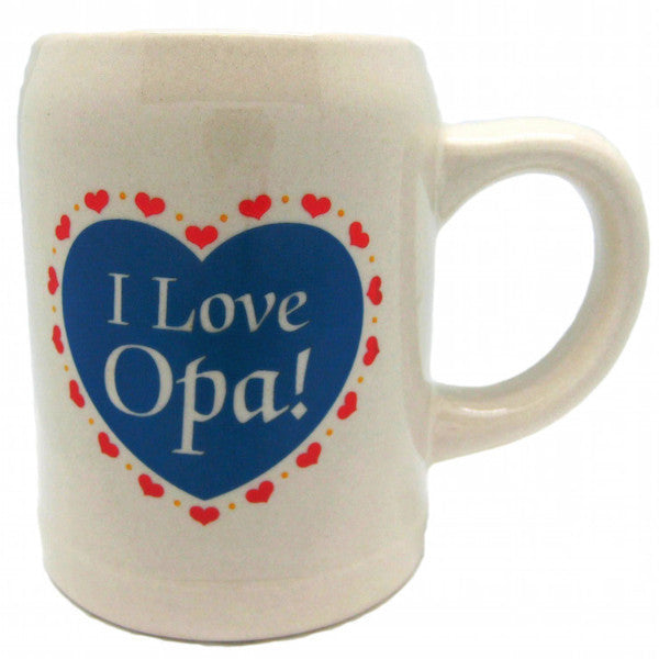 German Ceramic Coffee Cup I love Opa!