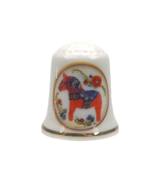 Red Dala Horse Thimble