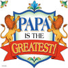 Papa Is The Greatest Wall Tile