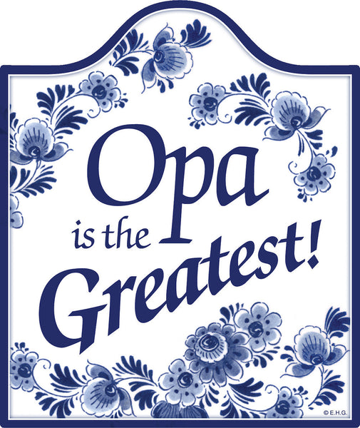 German Heritage Ceramic Cheeseboard: Opa Is the Greatest