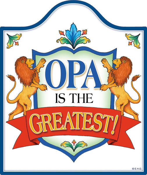 Opa Is the Greatest Decorative Ceramic Cheeseboard