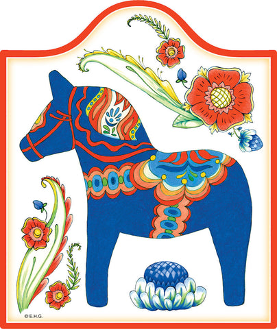Ceramic Cheeseboard: Blue Dala Horse