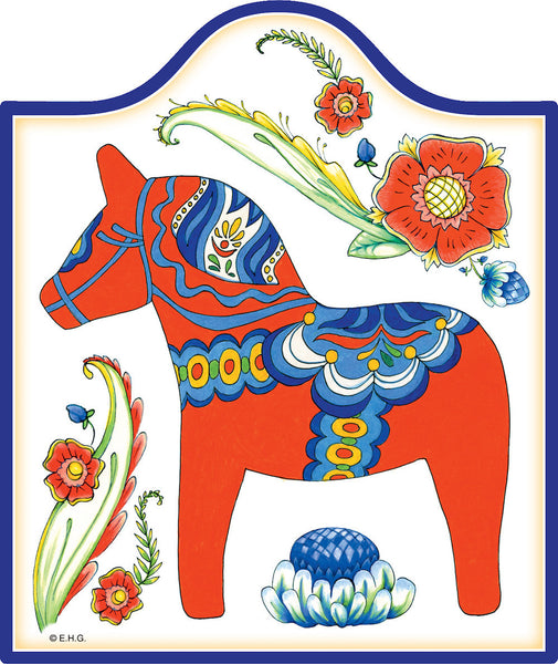 Ceramic Cheeseboard: Red Dala Horse