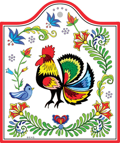 Heritage Ceramic Cheeseboard: Rooster