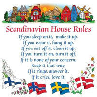 Danish Gift Wall Tile: Scandinavian House Rules
