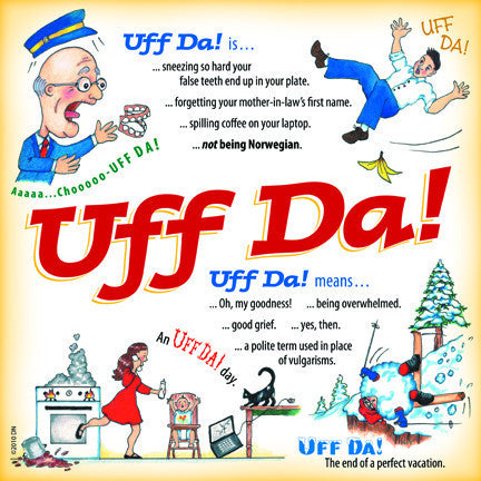 Uff Da Gift Idea Ceramic Wall Plaque Tile