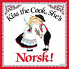 Norwegian Gift Idea Tile: Kiss Norsk Cook..