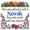 Norwegian Gift Idea Tile: Tell A Norsk...