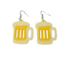 Festival Party Beer Stein Earrings Jewelry