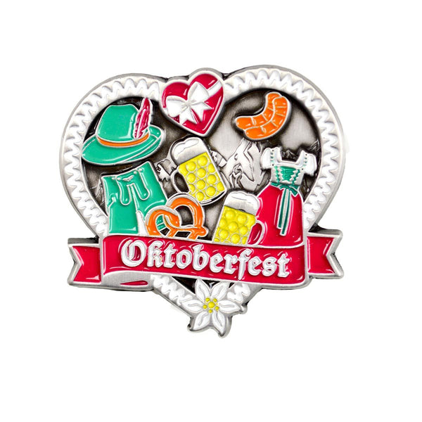 All in One Oktoberfest Hat Pin with Stein, Dirndl, Lederhosen