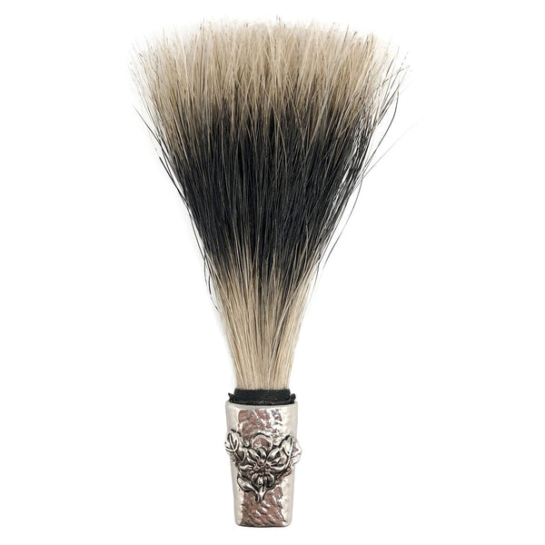 Deluxe Gamsbart Hat Pin Brush with Engraved Edelweiss