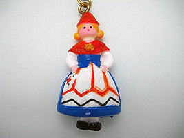 Norwegian Souvenir Girl Key Chain