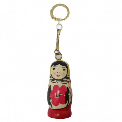 Wooden Russian Nesting Doll KeyChain