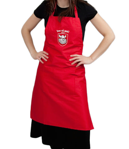 Red Apron Danish Gift Idea Vaer Sa God!