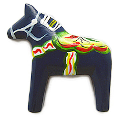 Blue Swedish Horse Kitchen Unique Magnet Gift