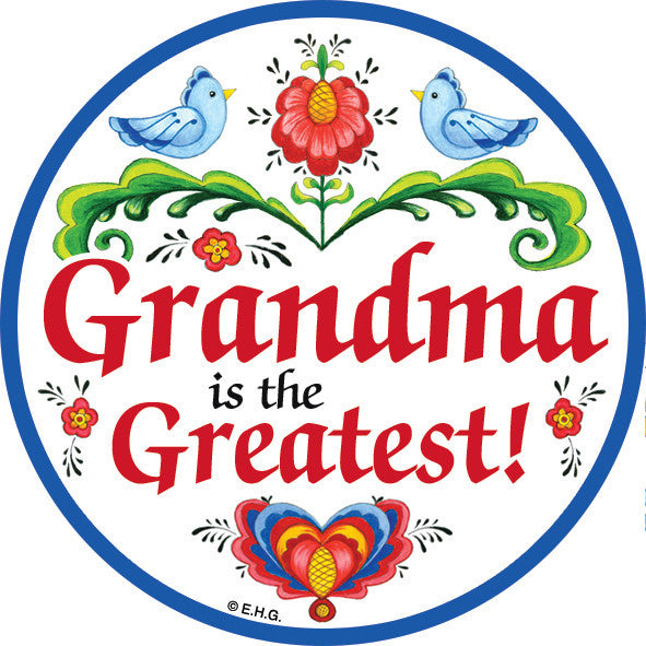Grandma Is the Greatest Plate Magnet