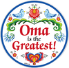 Oma Is the Greatest Plate Magnet