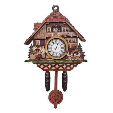 Cuckoo Clock Bierstube 3-D German Village Scene Fridge Magnet