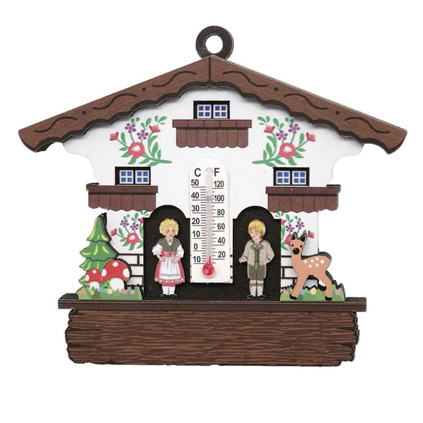 German Gift Idea Thermometer Weather House Fridge Magnet