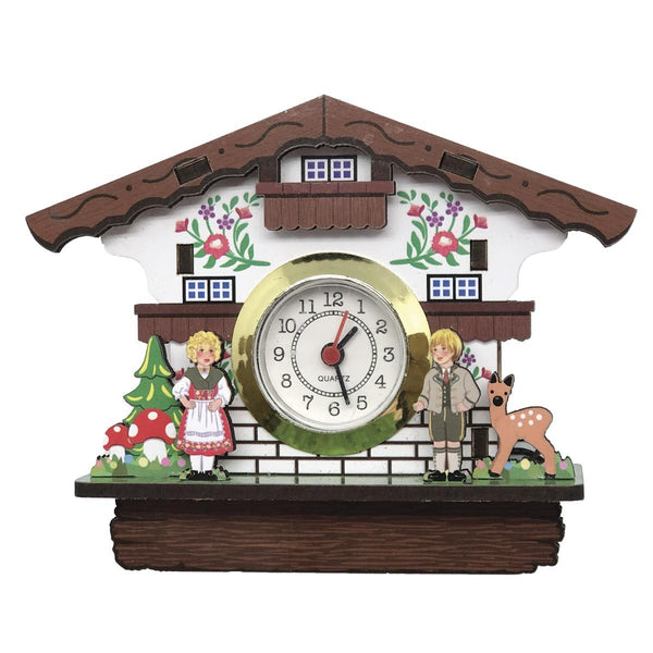 German Gift Idea with Real Clock Alpine House Fridge Magnet